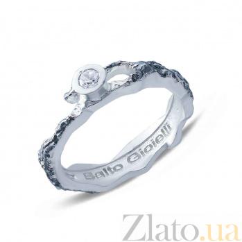 Серебряное кольцо с куб. цирконом  AQA--АНТ 003б/ч