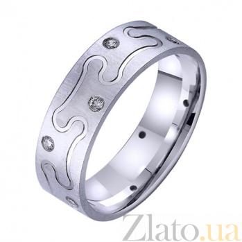 Золотое обручальное кольцо Праздник сердца с цирконием TRF--4221760