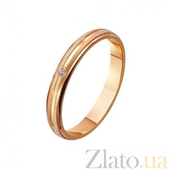 Золотое обручальное кольцо с фианитом Благополучная семья TRF--4121220