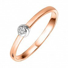 Помолвочное кольцо Эдона из комбинированного золота с бриллиантом