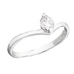 Серебряное кольцо Заяна с фианитом