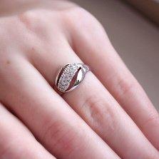 Серебряное кольцо Торонто с фианитами