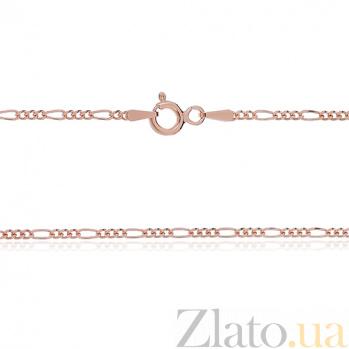 Серебряная цепочка Мантра с позолотой, 50 см 000030834
