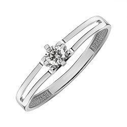 Кольцо из белого золота с бриллиантом 000145439