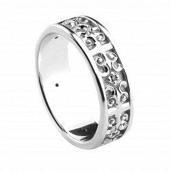 Обручальное кольцо из золота с бриллиантами Магия Средневековья