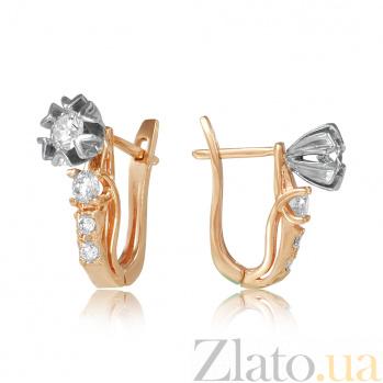 Золотые серьги с бриллиантами Эдит EDM-С7540