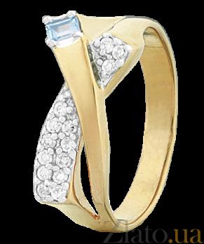 Серебряное кольцо с цирконием Марика 000025555