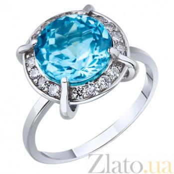 Кольцо из белого золота с голубым топазом Грация AUR--31283 01Б