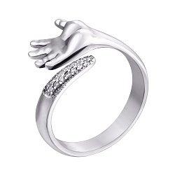 Серебряное кольцо с цирконием Swarovski 000062341