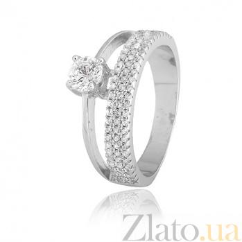 Кольцо из серебра с фианитами Аннета 000028063
