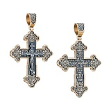 Серебряный крест Благо в позолоте с чернением