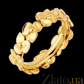 Молодежное кольцо в желтом золоте Hortensia R-Ch/Hor-E-little