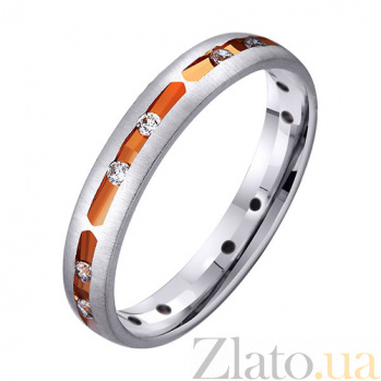 Золотое обручальное кольцо Вечность любви с фианитами TRF--422959