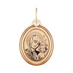 Ладанка из красного золота Божия Матерь 000121578