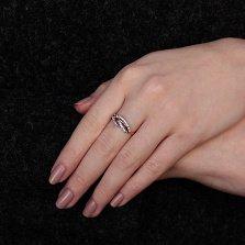Золотое кольцо с фианитами Жизель