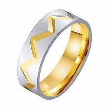 Золотое обручальное кольцо Биение сердца