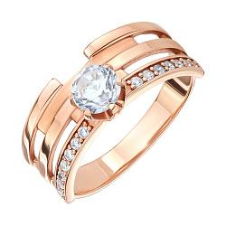 Кольцо из красного золота с фианитами 000146244