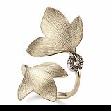 Кольцо Hera из желтого золота с коньячными бриллиантами