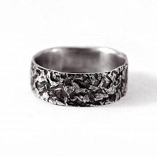 Кольцо из серебра Overcoming с чернением