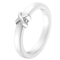 Кольцо в белом золоте Исида с керамикой 000051998