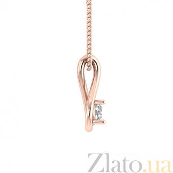 Золотой подвес в красном цвете с бриллиантом Слеза Исиды 000030723