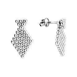 Серебряные серьги-пуссеты 000116617