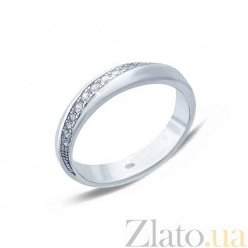 Кольцо серебряное с фианитами Дорога к сердцу AQA--XJR-0098
