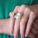 Золотое кольцо Шаона с пейзажным кварцем