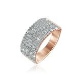 Серебряное кольцо Анастасия с позолотой и фианитами