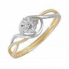 Золотое кольцо Молли с бриллиантом