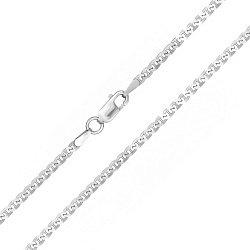 Серебряная цепь Антарес с родированием, 2,5 мм