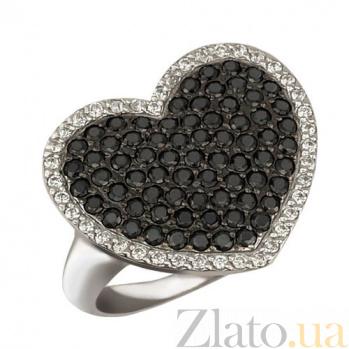 Кольцо из белого золота Сердце Амура VLT--Т194