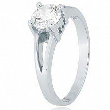 Серебряное кольцо Мелита с прозрачным фианитом