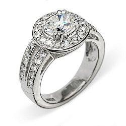 Кольцо из белого золота с бриллиантами 000006041