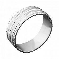 Серебряное обручальное кольцо Истис 000043139