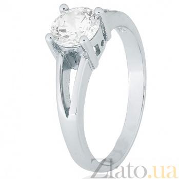 Серебряное кольцо Мелита с прозрачным фианитом 000028283