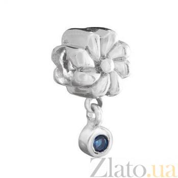 """Серебряная бусина с подвеской """"Цветок"""" AQA--2B1530005/5"""