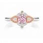 Кольцо Argile из белого и розового золота с бриллиантами, розовыми сапфирами и желтыми сапфирами R-cjAr-W/R-19s-10d