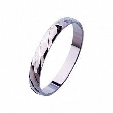 Золотое обручальное кольцо Марлен