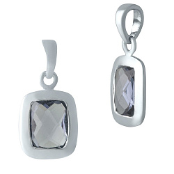 Серебряная подвеска Корнелия с завальцованным александритом