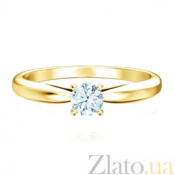 Кольцо с бриллиантом Мой милый ангел: Бережное касание из желтого золота 224