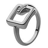Серебряное кольцо с бриллиантами Изель