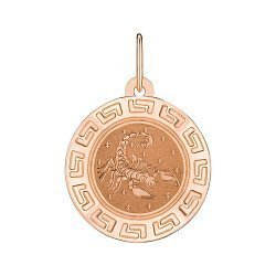 Подвеска из красного золота Знак Зодиака Скорпион 000147780