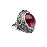 Золотое кольцо с турмалином и фиолетовыми сапфирами Мадам