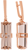 Золотые серьги-подвески Агапия с раухтопазами