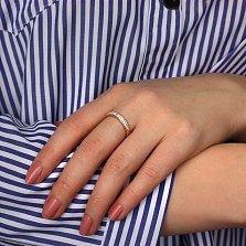 Кольцо в красном золоте Вальс с фианитами