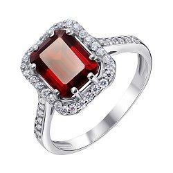 Серебряное кольцо Тенгери с гранатом и фианитами 000061492
