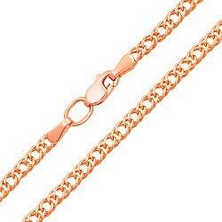 Цепь из красного золота с алмазной гранью 000128093
