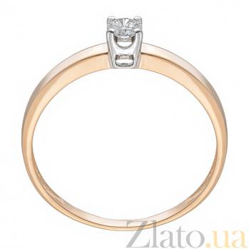 Кольцо из красного золота с бриллиантом Страсть KBL--К1104/крас/брил