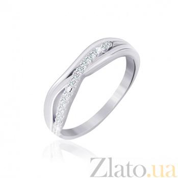 Кольцо из серебра Луселия с цирконием 000030942